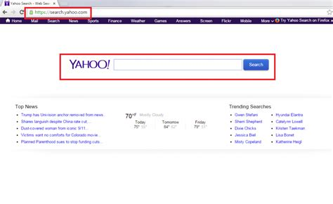 email yahoo virus remove удаление fake yahoo search