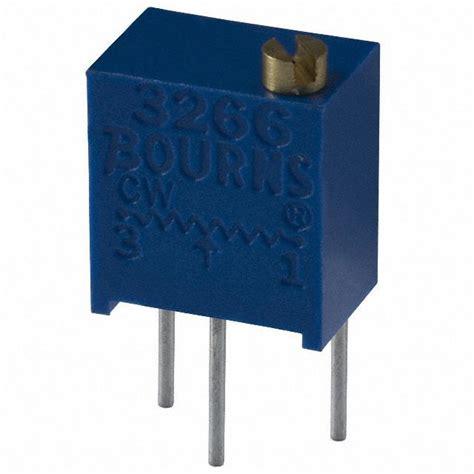 variable resistor bourns 3266w 1 105lf bourns inc potentiometers variable resistors digikey