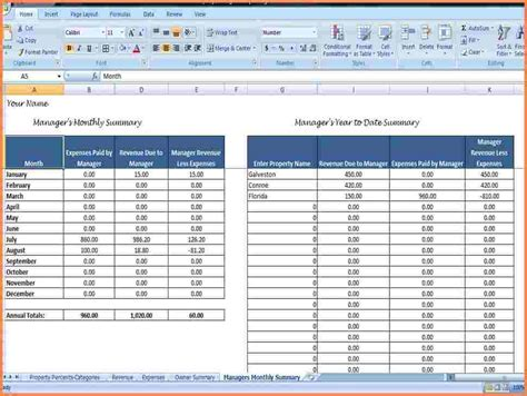 property template 9 rental property spreadsheet template excel