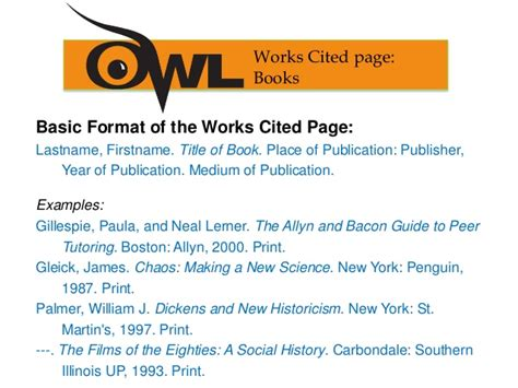 works cited page mla style guide for citations 8th edition