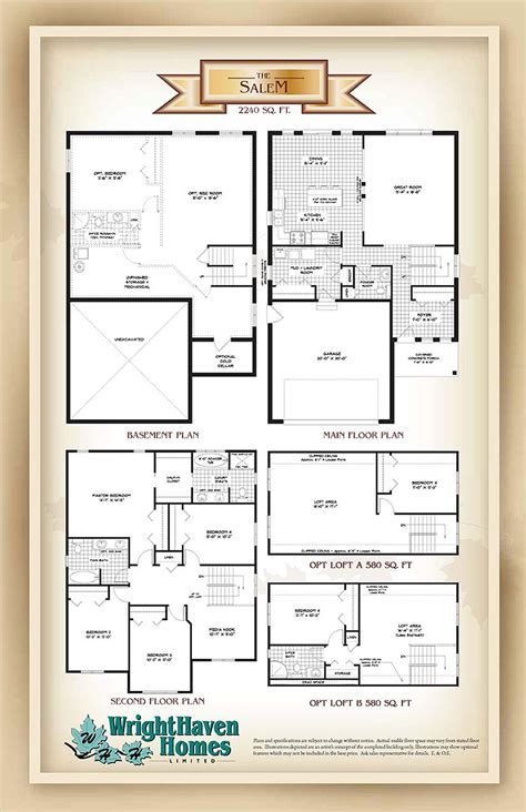 salem cers floor plans salem model home elora