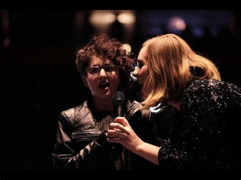adele new duet adele young fan sing someone like you on stage