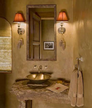 Como Hacer Un Espejo Con Marco De Madera #6: Banos-rusticos-pequenos-espejo-de-madera.jpg