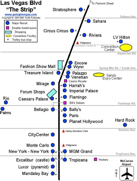 Hotel Layout On Las Vegas Strip | map of the las vegas strip travel pinterest the o