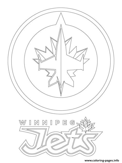 coloring pages of hockey logos winnipeg jets logo nhl hockey sport coloring pages printable