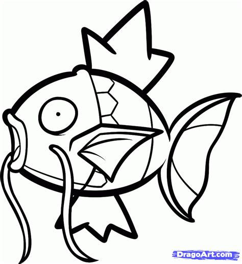 pokemon coloring pages magikarp how to draw magikarp magikarp from pokemon step by step