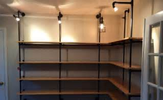pipe shelves diy diy lighted pipe shelving cool material