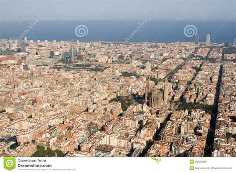 barcelona aerial view aerial view of barcelona royalty free stock image image