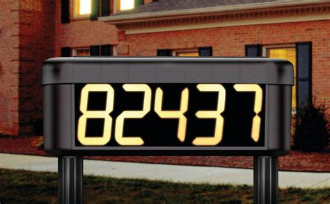 solar powered house numbers address illuminated lighted solar powered lighted house number
