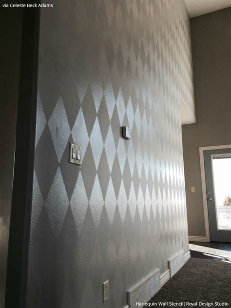 Wall Murals Stencils update your home with trendy stenciled walls paint pattern
