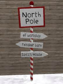 Second Hand Barn Second Life Marketplace North Pole Sign Post Christmas