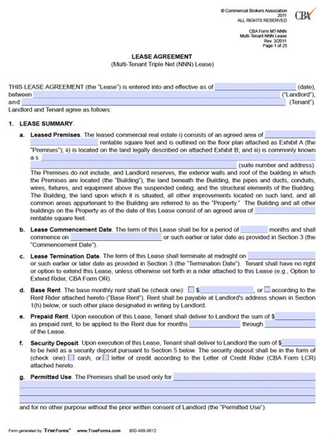Free Fillable Rental Lease Agreements Pdf Word Templates Lease Rider Template
