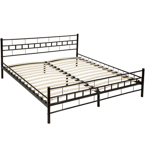 Slatted Bed Frame by Metal Bed Frame King Size Modern Bedroom 180x200cm