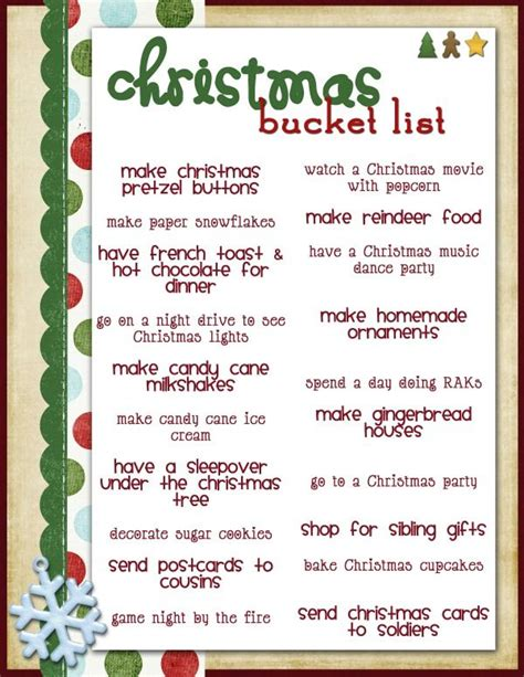 best 25 christmas bucket lists ideas on pinterest