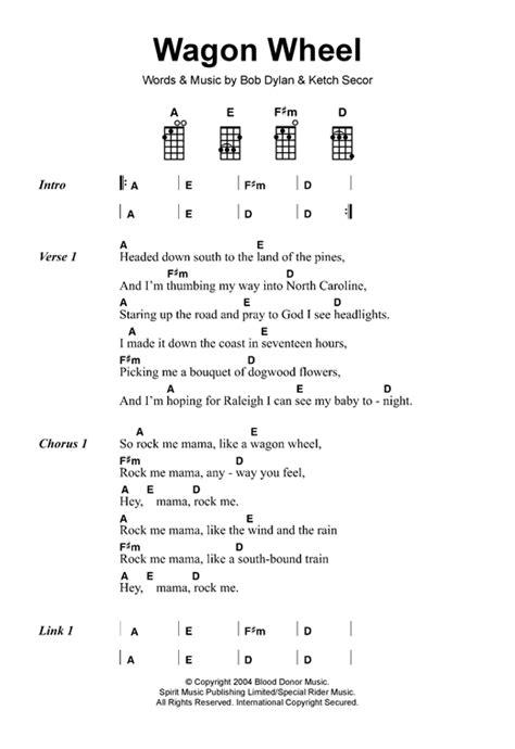 guitar tutorial wagon wheel wagon wheel sheet music by old crow medicine show ukulele