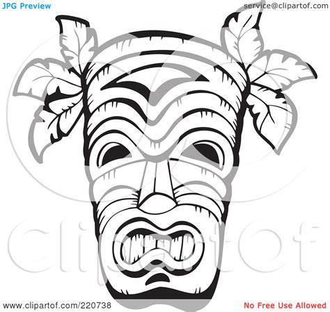 african tribal patterns coloring page 7 best images of tiki mask printable page size tiki mask