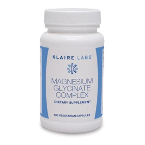 Magnesium Glycinate As A Detox by Klaire Labs Magnesium Glycinate Complex 100 Mg 100
