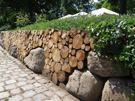 garten ideen mauer steinmauer als blickfang und sichtschutz im garten 40 ideen