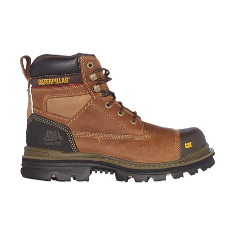 Caterpillar Bandick Brown Steel Toe Safety Boot mens caterpillar gravel steel toe cap safety boots cat