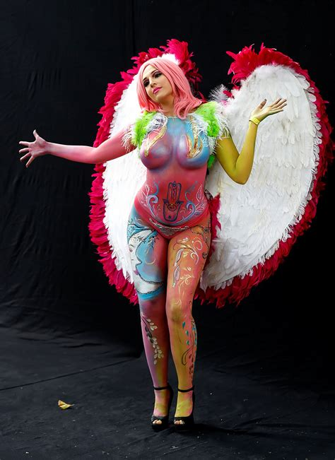 world bodypainting festival from to aliens spectacular characters of the 2017