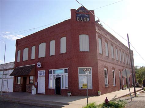 historic bank block custer city oklahoma flickr
