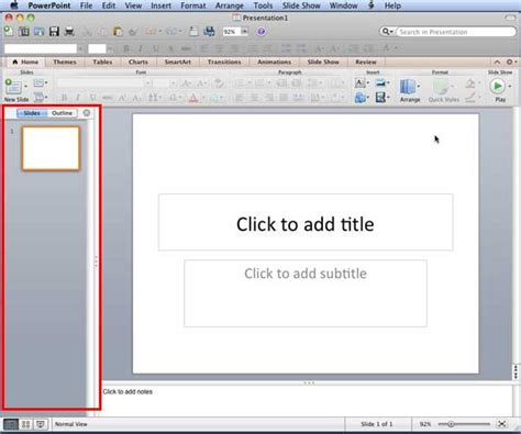 gps tutorial powerpoint slides and outline pane in powerpoint 2011 for mac