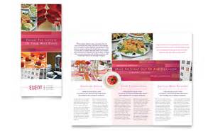event brochure template corporate event planner caterer tri fold brochure