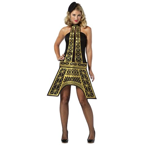Tarty Costumes by Womens Eiffel Tower Dress World Fancy Dress