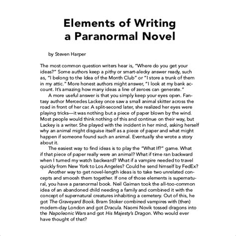 Layout For Novel Writing | 12 book writing templates free sle exle format