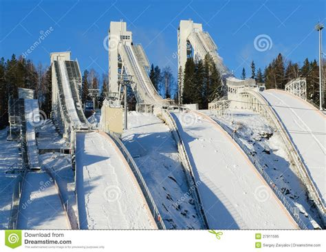 design of ski jump hill ski jumping hill royalty free stock photo image 27911595