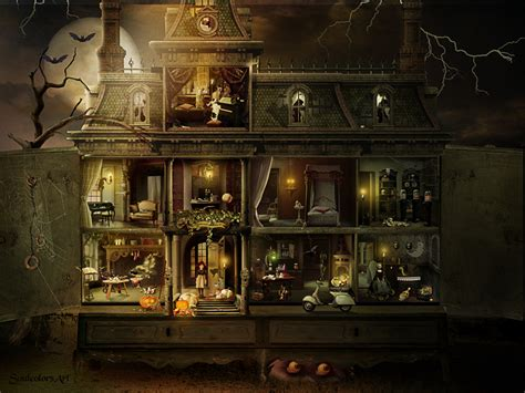 who wrote a doll house dollhouse halloween by soulcolorsart on deviantart