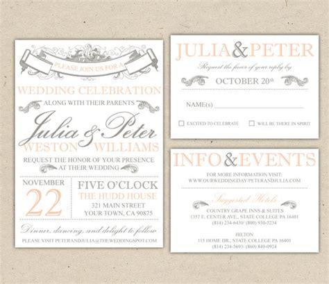 vintage wedding invitation wording exles vintage modern wedding invitation and rsvp template diy 1053 sle 2241497 weddbook