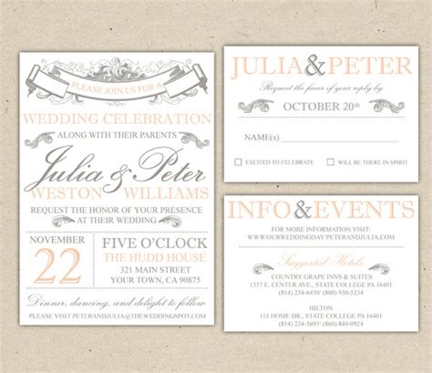 wedding invitation sles free canada rustic wedding invitation template vintage modern printable