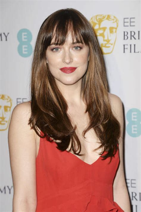 dakota johnson bangs 20 trendy long hairstyles with bangs for girls