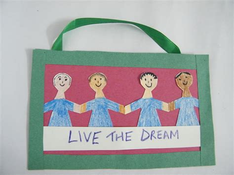 martin luther king crafts for martin luther king day poster arts crafts activity for