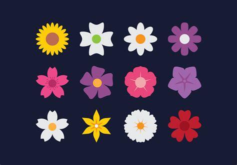 flower flat icons   vectors clipart
