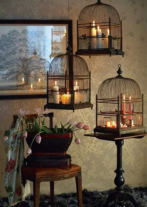 candle home decor decorative bird cages in the interior romantic decor