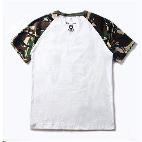 Camo Shirts Aape Camouflage No93 T Shirt White Green
