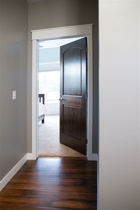 interior doors white trim  door topper paired