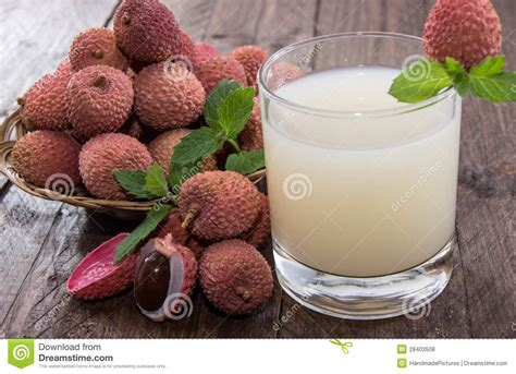 lychee juice fresh made lychee juice stock photo image of litchee