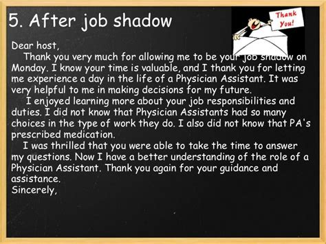 thank you letter to doctor you shadowed are you preparing to pursue a career in your near future