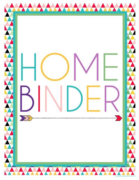 home management binder templates free 13 printable binders for easy organization tip junkie