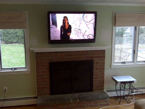 cheshire ct 65 lcd tv over fireplace complete custom cheshire ct mount tv above fireplace home theater