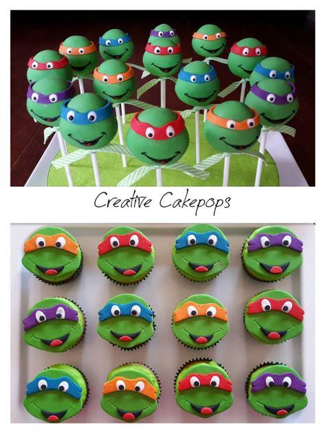 teenage mutant ninja turtles table and ninja turtle cake pops and cupcakes tmnt cakepops