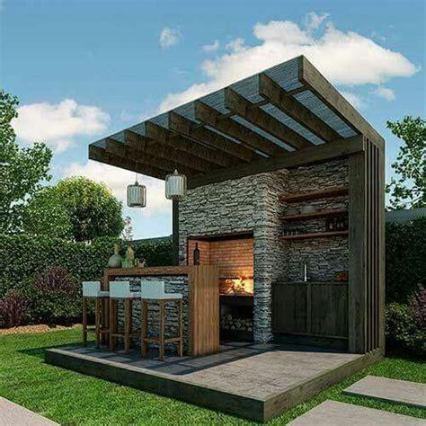 terraza bbq interiorismo asadores de ladrillos terraza asador  asadores  jardin