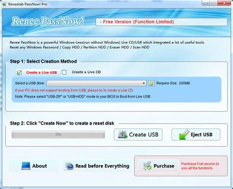 windows password reset live cd to usb how to bypass windows 7 password without reset disk rene