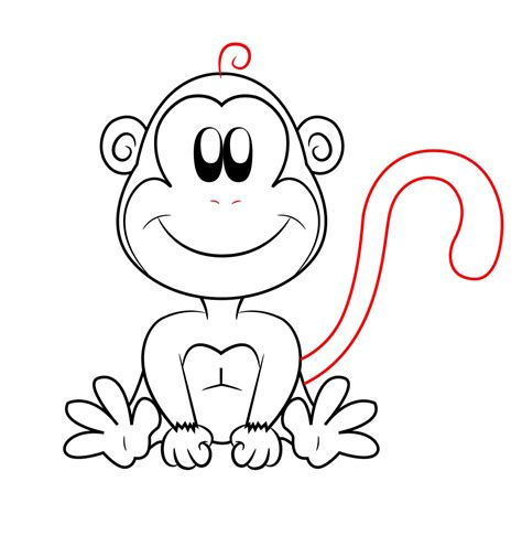 A Drawing Of A by Free Coloring Pages Of How To Draw How Monkey