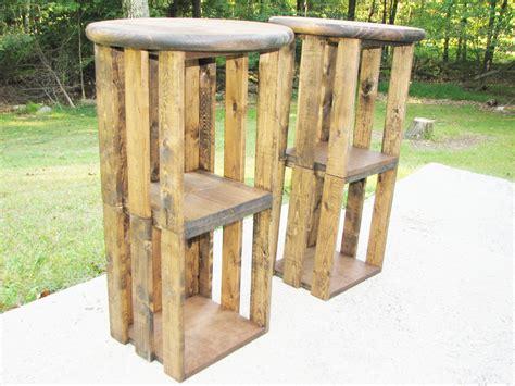 Rustic Wood Bar Stools by Wood Bar Stool Farmhouse Rustic Industrial Crate