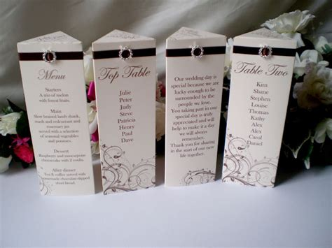 how to make table cards personalised wedding table number name menu place card