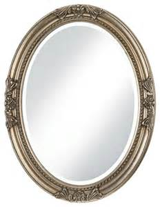 silver oval mirrors bathroom traditional antique silver finish oval wall mirror